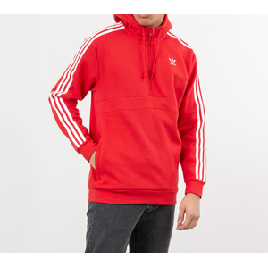 adidas 3-Stripes Half Zip Sweatshirt Lush Red