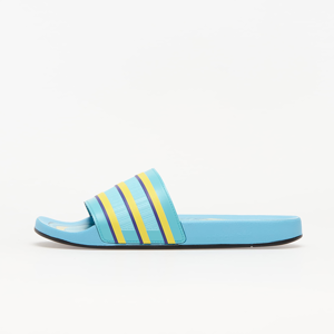 adidas Adilette Premium Light Aqua/ Bright Yellow/ Purple