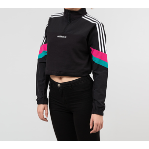 adidas Cropped Half Zip Crewneck Black