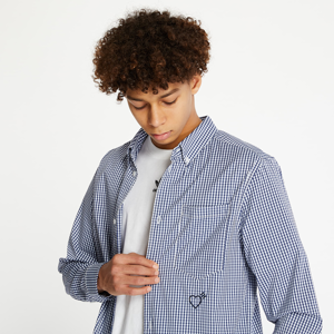 adidas Human Made LSL Shirt White/ Collegiate Navy