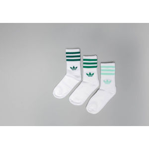 adidas Mid Cut Crew 3-Pack Socks White/ Green