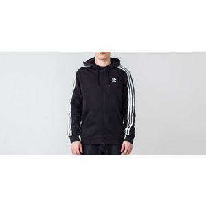 adidas Originals 3-Stripes FZ Hoodie Black