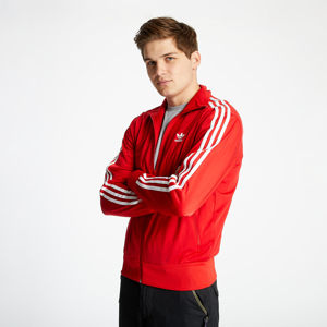 adidas Track Top Scarlet/ White