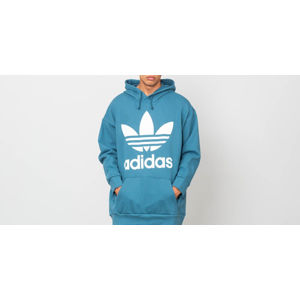 adidas Trefoil Oversized Hoodie Blanch Blue