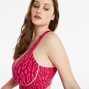 adidas x Ivy Park Medium Support Monogram Cut Out Bra (Plus Size) Bold Pink