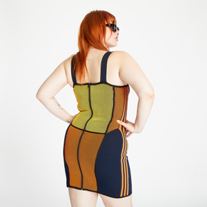 adidas x Paolina Russo Knit Corset Dress Active Gold/ Black/ Energy Orange/ Collegiate Navy