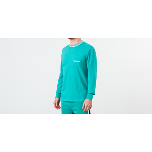 Aimé Leon Dore Long Sleeve Ribbed Collar Tee Tropical Green