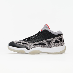 Air Jordan 11 Retro Low Ie Black/ Fire Red-Cement Grey-White