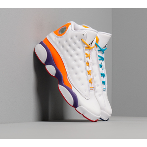 Air Jordan 13 Retro Ksa (GS) White/ Black-Court Purple-Total Orange