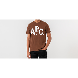 A.P.C. Decale Tee Brown