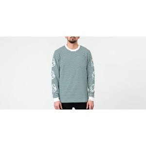 Billionaire Boys Club Small Stripe Longsleeve Tee Green/ White