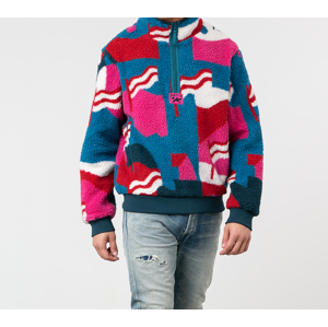 by Parra Flag Mountain Racer Sherpa Fleece Pullover Multicolor