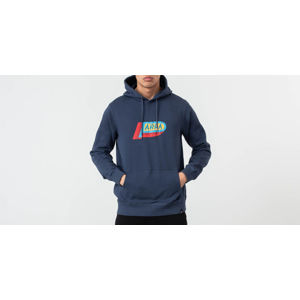 by Parra Garage Oil Hoodie Navy Blue