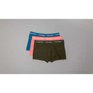 Calvin Klein 3 Pack Low Rise Trunks Blue/ Pink/ Green