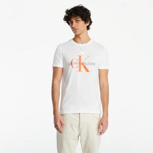 Calvin Klein Jeans Seasonal Monogram Tee Bright White/ Neon
