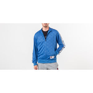 Champion Full Zip Crewneck Blue