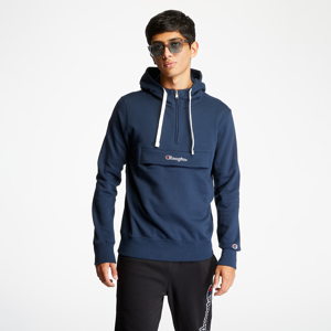 Champion Half Zip-Up Hoodie Dark Blue