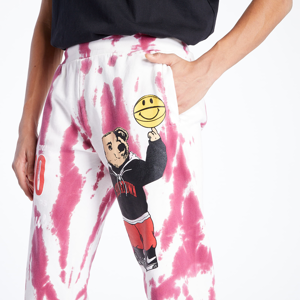 Chinatown Market Smiley Varsity Bear Sweatpant White /Pink