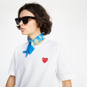 Commes des Garcons Camouflage Edge Heart TEE White