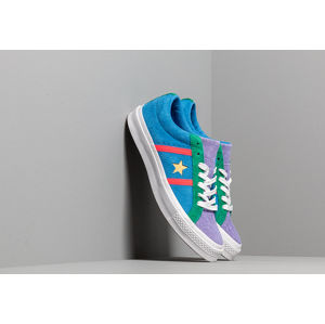 Converse One Star Academy Totally Blue/ Racer Pink/ White