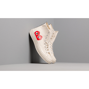 Converse x Comme des Garçons PLAY Chuck 70 Milk/ White/ High Risk Red