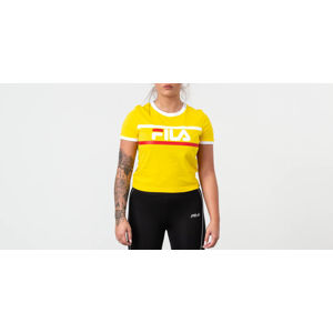 Fila Ashley Cropped Tee Empire Yellow