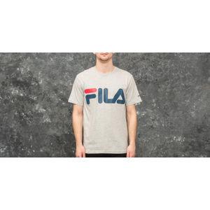 FILA Classic Logo Tee Light Grey Melange Bros/ Blue Dephts