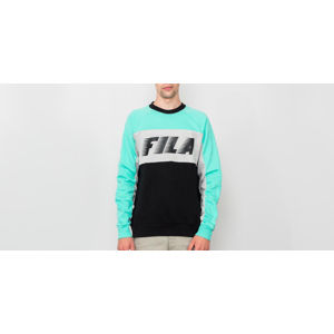 FILA Colour Block Sweatshirt Black/ Cockatoo/ Light Grey Melange Bros