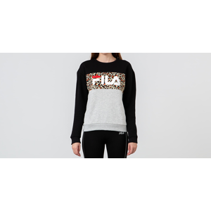 FILA Crewneck Leo Print Light Grey/ Black