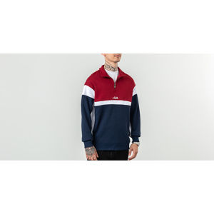 FILA Herron Half Zip Top Black Iris/ Rhubarb/ Bright White