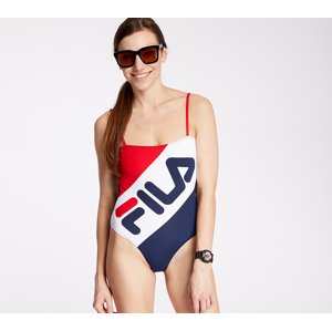 FILA Mei Swimsuit True Red/ Black Iris/ Bright White