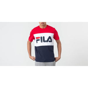 FILA Men Day Tee Black Iris/ True Red/ Bright White