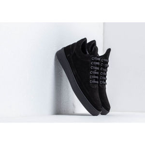 Filling Pieces Low Top Plain Cape Suede All Black