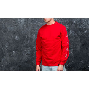 HUF Apparel 420 Triple Triangle Longsleeve Tee Red