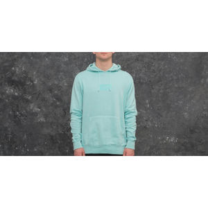 HUF Bar Logo Overdyed Pullover Hoodie Aqua