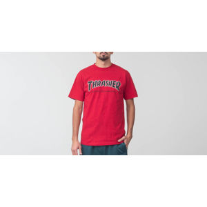 Independent x Thrasher Regular Shortsleeve Time To Grind Tee Cardinal Red