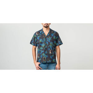John Elliot Shortsleeves Bowling Shirt Blue