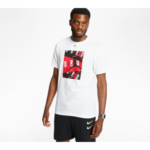 Jordan Tee White/ Gym Red