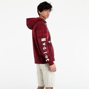 Jordan Legacy AJ6 Graphic Fleece Pullover Hoodie Black/ Gym Red