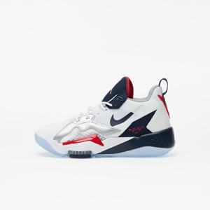 Jordan Zoom '92 (GS) White/ Obsidian-True Red-Metallic Silver