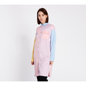 Lazy OAF Satin Queen Shirt Dress Multicolor