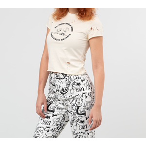 Lazy Oaf x Peanuts Fitted Tee Cream White