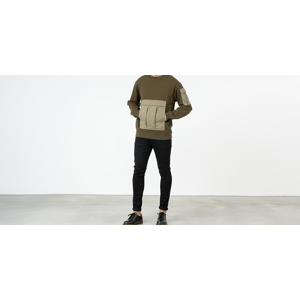 maharishi M65 Zip-Off Sleeves Crewneck Mil Olive