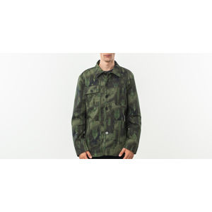 MAISON KITSUNÉ All Over Dream Amplifier Worker Jacket Khaki Print