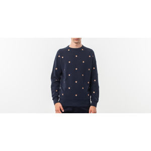 MAISON KITSUNÉ All Over Fox Head Patch Sweatshirt Navy
