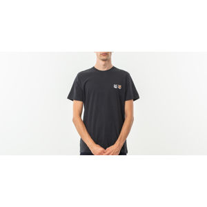 MAISON KITSUNÉ Double Fox Head Patch Shortsleeve Tee Anthracite