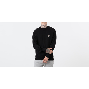MAISON KITSUNÉ Fox Head Patch Crewneck Black