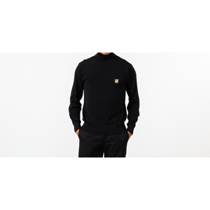 MAISON KITSUNÉ Fox Head Patch Turtleneck Black