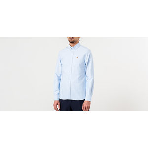 MAISON KITSUNÉ Oxford Fox Head Embroidery Classic Shirt BD Light Blue