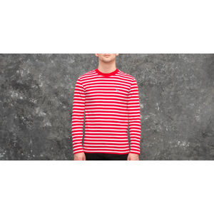 MAISON KITSUNÉ Tricolor Fox Patch Marin Tee Red/ White
